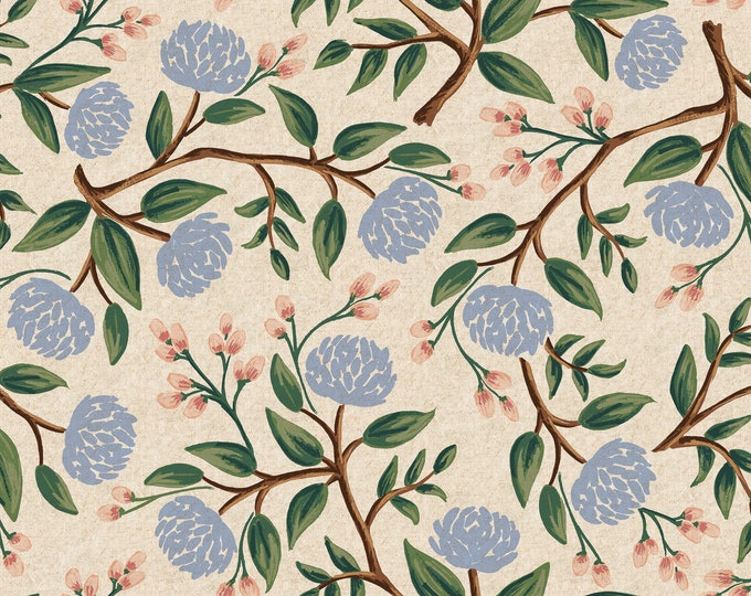 PRESALE: Peonies in Cream Canvas for Wildwood Collection by Rifle Paper Co.