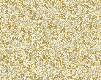 Tapestry Lace in Metallic Gold from the Rifle Paper Co. Basics Collection by Cotton and Steel