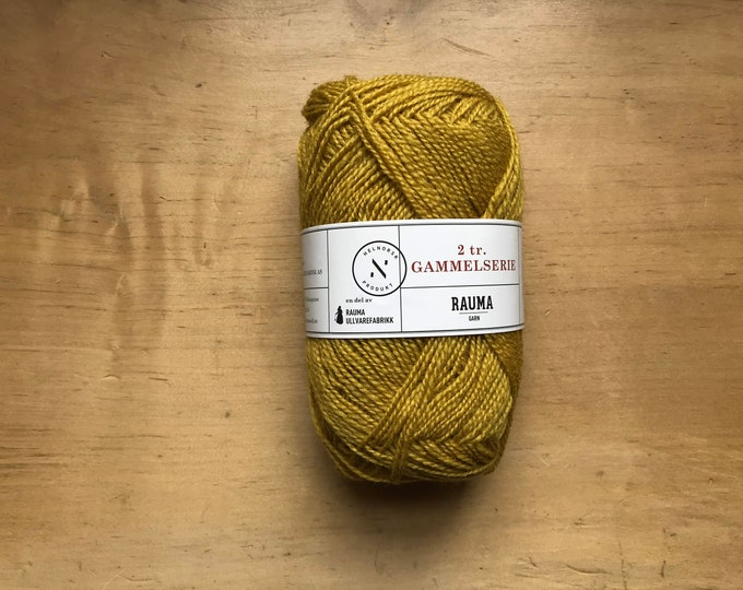 2 Ply Gammelserie in Yellow by Rauma