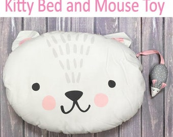 Kitty Bed and Mouse Toy Sewing Kit from Cut Sew Create by Moda