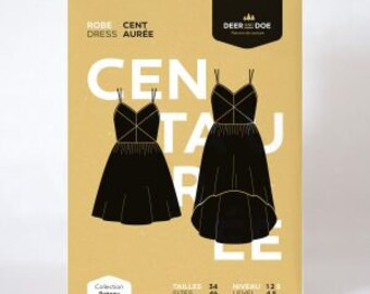 Centaurée Dress- Deer and Doe Patterns
