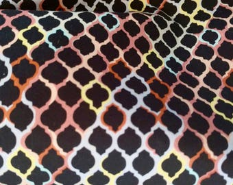 Liberty of London Tana Lawn - MulitColored Print on Black BY THE 1/2 YARD