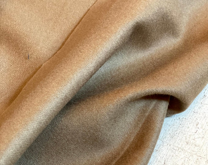 100% Italian Wool in Camel