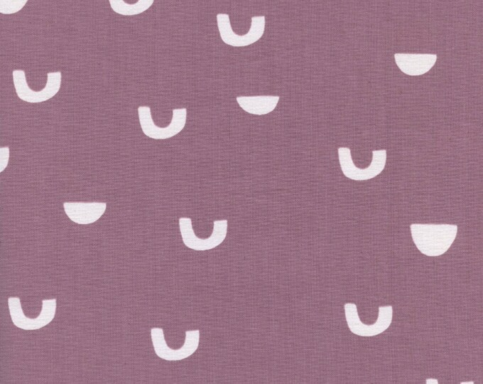 PRESALE: Cups (in Lavender) from Moonrise by Alexia Abegg for Cotton + Steel - Unbleached Cotton White Pigment Fabric