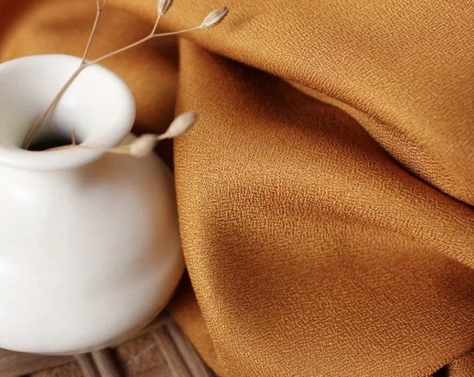 PRE SALE: Crepe in Ochre Fabric by Atelier Brunette