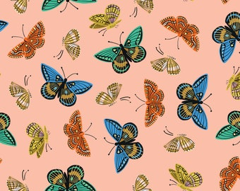 Monarch (peach METALLIC LAWN) from English Garden by Rifle Paper Co.