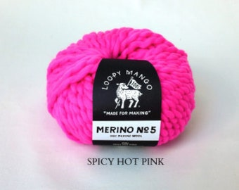 Loopy Mango - Merino No. 5 - Spicy Hot Pink
