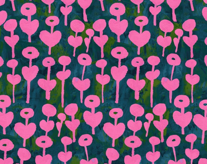 Love Flower in Rose RAYON for the Once Upon a Time Collection for Cotton + Steel