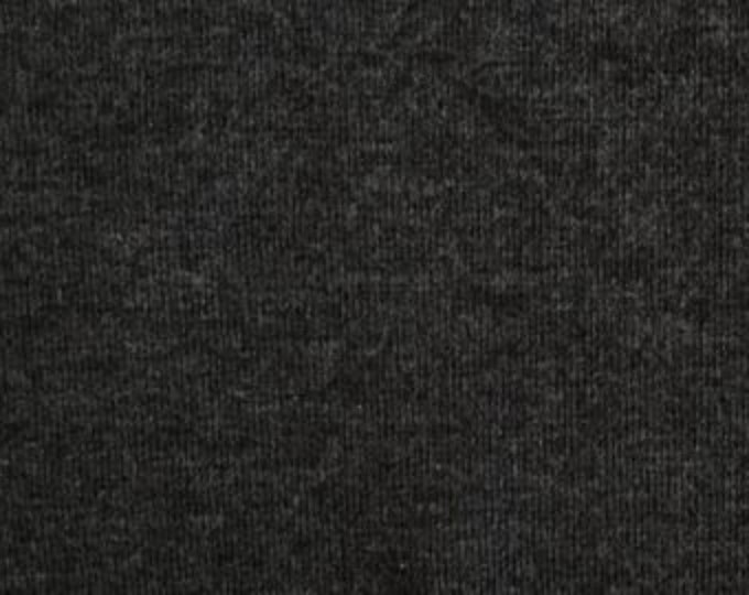 Bamboo Spandex Jersey in Heather Black by Pickering