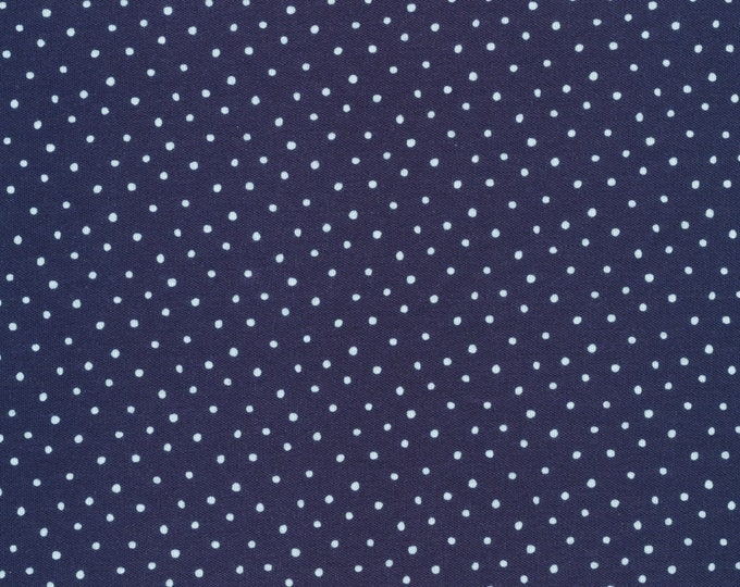 Dots in Navy - Organic Cotton Knit from Cloud9 Knits