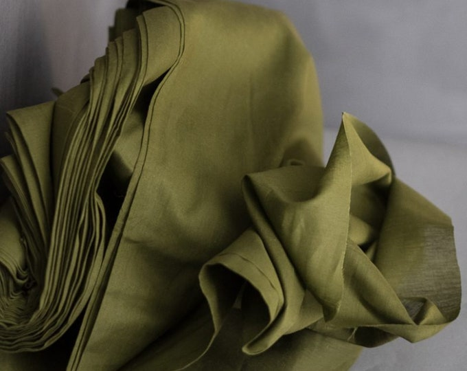 Cotton Muslin in Khaki by Merchant & Mills
