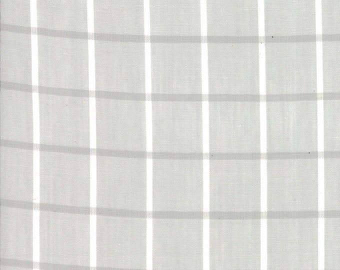 Bonnie Camille Windowpane in Gray by Moda Wovens