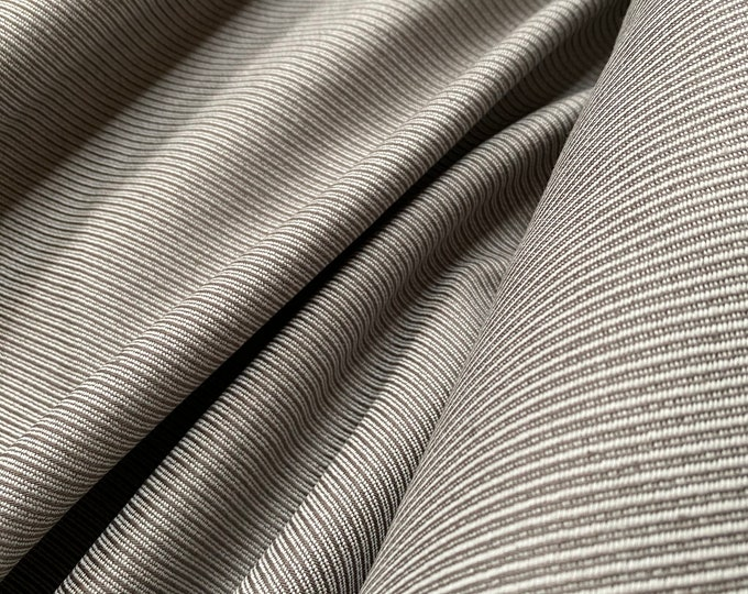 100% Organic Cotton Textured Twill in Gray/Gray