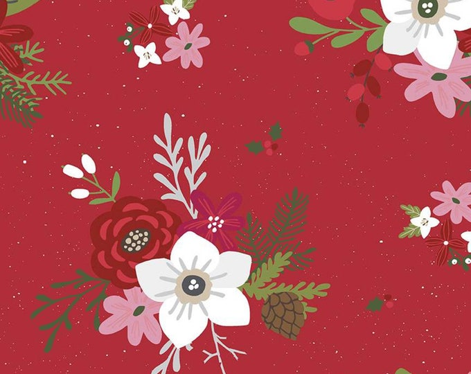 Holly Holiday in Red from the Holly Holiday Collection for Riley Blake Designs