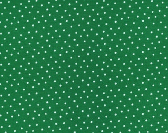 Dots in Green - Organic Cotton Knit from Cloud9 Knits