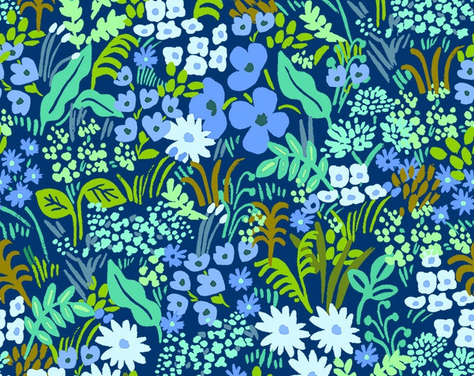 Meadow (blue fabric) from English Garden by Rifle Paper Co.
