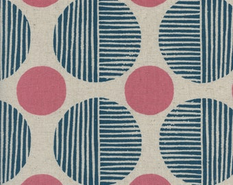 Stone Path in Navy (CANVAS ) from Imagined Landscapes by Jen Hewett for Cotton + Steel