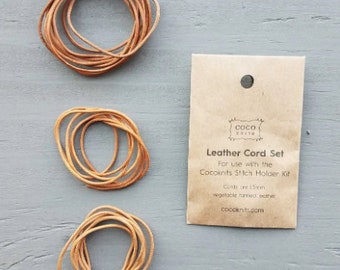 Leather Cord Set by CocoKnits