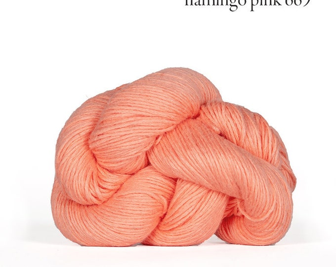Mojave in Flamingo Pink - Cotton + Linen Yarn - by Kelbourne Woolens