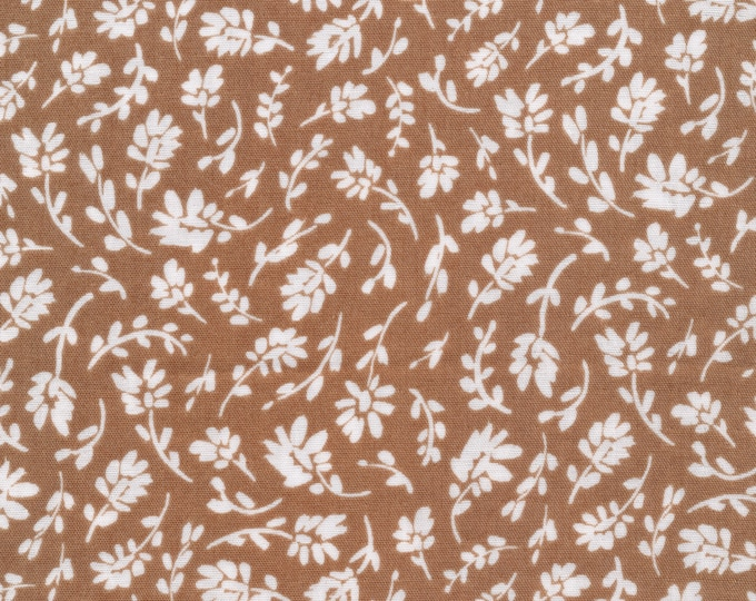 Indira in Tan from Garden Ramble by Sarah York - Certified Organic Double Gauze Cotton