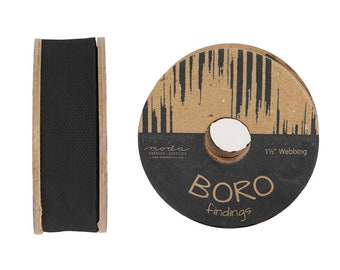 "Boro Trim Webbing 1.5"" - by the Yard - 5 color options"