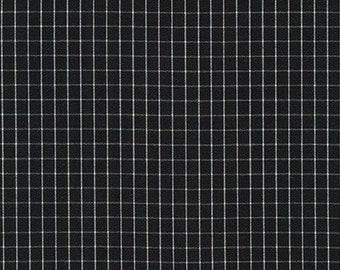 Thin Check Yarn Dyed in Black from Harriot by Carolyn Friedlander