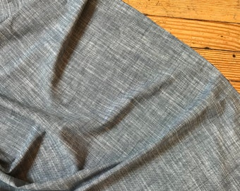 Chambray Union Stretch in Indigo by Robert Kaufman