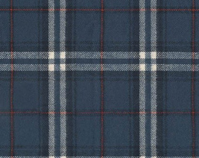 Tahoe Flannel in Blue by Robert Kaufman