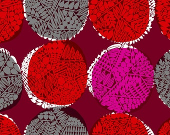Nest in Ruby RAYON fabric from the Safari Collection by Cotton + Steel