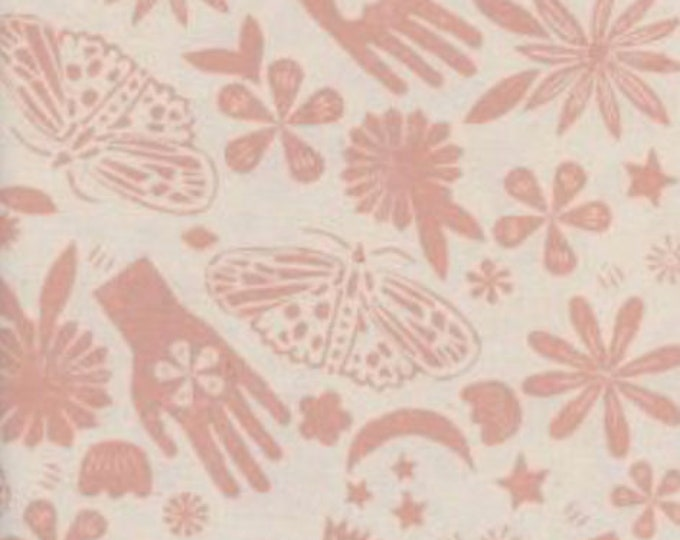 PRESALE: Dream (in Pink) from Moonrise by Alexia Abegg for Cotton + Steel Unbleached Cotton Fabric