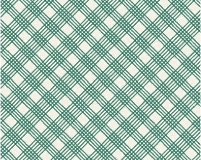 Skinny Plaid in Green from Penelope by Annabel Wrigley for Windham Fabrics