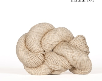 Mojave in Natural - Cotton + Linen Yarn - by Kelbourne Woolens