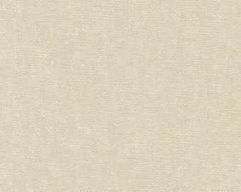 Robert Kaufman Yarn Dyed Essex  -Limestone - Cotton Fabric