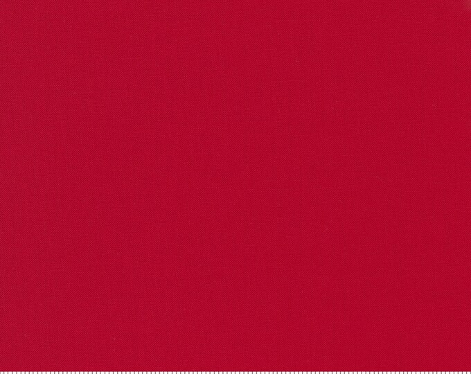 CHRISTMAS RED Bella Solids by Moda