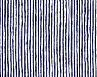 Candy Stripe in Navy from Sweet Oak by Striped Pear Studio for Windham Fabrics