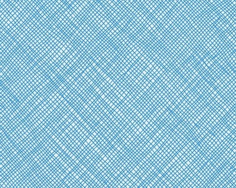 Crosshatch in Stratosphere- Blake Cotton Knit by Carolyn Friedlander- Robert Kaufman