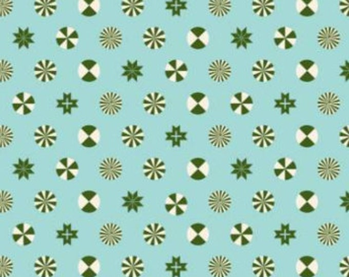 Peppermint Stars in Pine by Tula Pink for Free Spirit