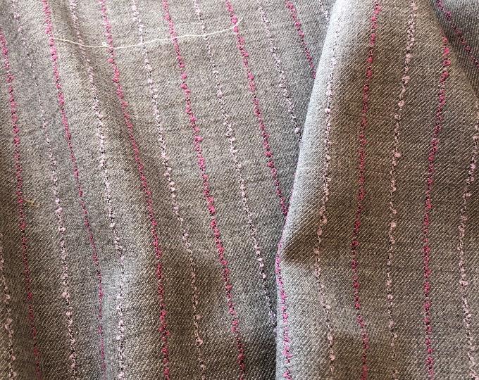 Wool Slubby Stripe