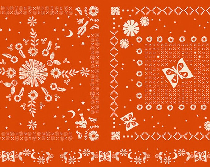 """Bandana Panel 24"""" x 44"""" in Warm Red from the Golden Hour Collection by Alexia Marcelle Abegg for Ruby Star Society"""