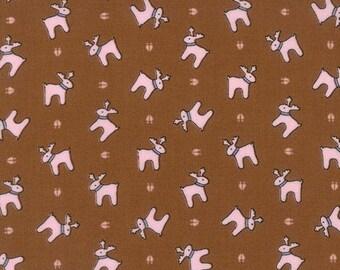 Sugar Plum Christmas - Reindeer Paws in Gingerbread for Moda Fabrics