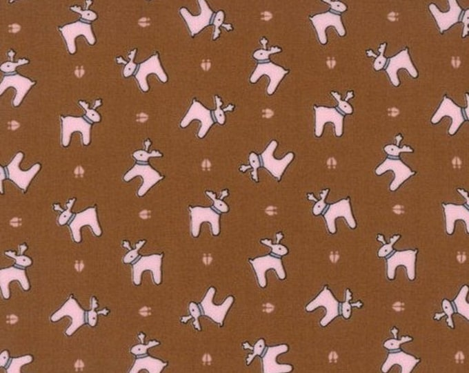 Sugar Plum Christmas - Reindeer Paws in Gingerbread for Moda Fabrics