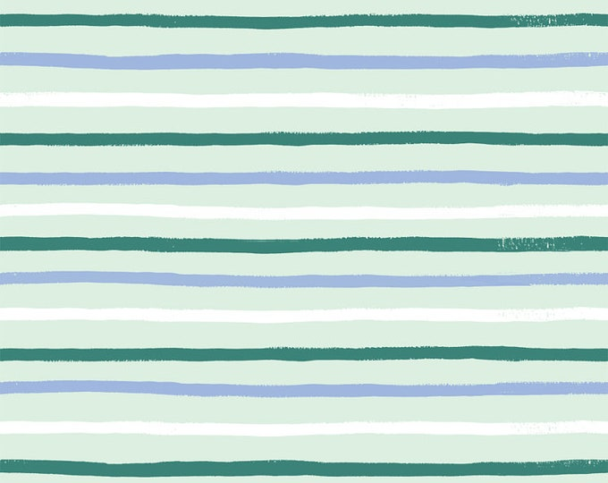 Stripes (mint fabric) from English Garden by Rifle Paper Co.