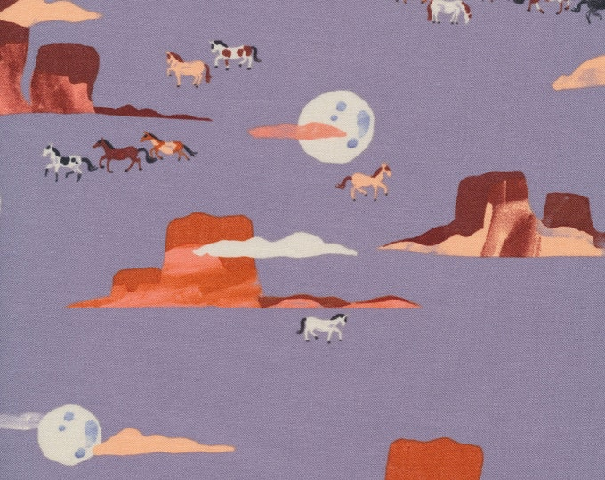 Moonlit Mustangs in 100% Organic Cotton from the Arid Wilderness for Cloud9 Fabrics