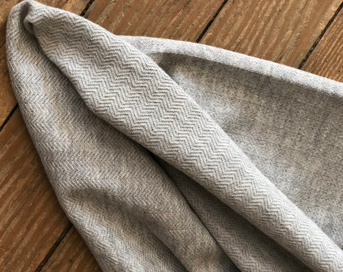 Knit Herringbone Heather in Gray by Robert Kaufman