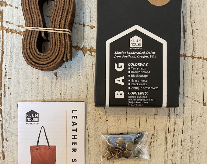 Klum Tote Leather Straps - Perfect for our Wool + Wax Kits!