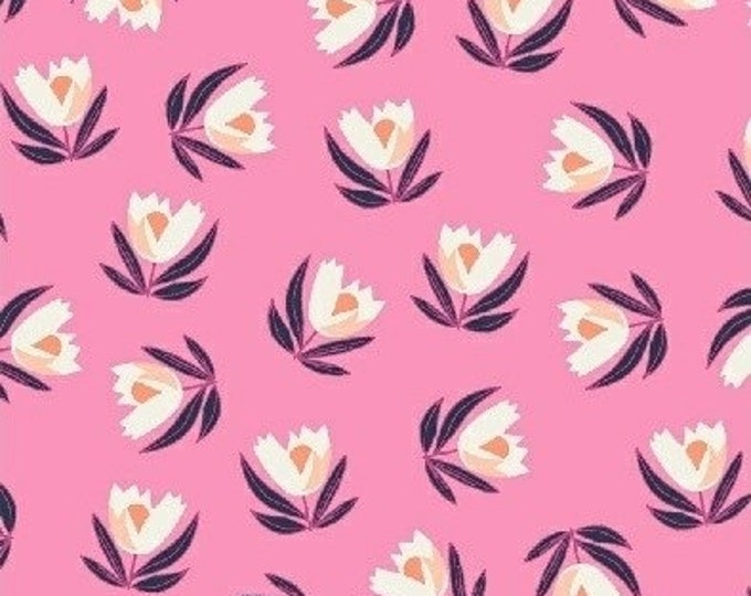 Magnolia Bloom in Pink from Penelope by Annabel Wrigley for Windham Fabrics
