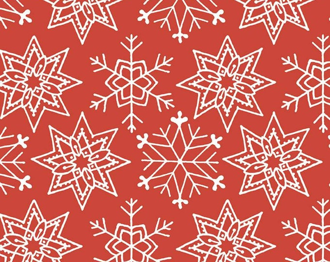 Snowflakes in Red from the All About Christmas by Riley Blake