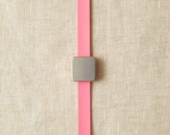Maker's Keep - Magnetic Bracelet - PINK - by CocoKnits