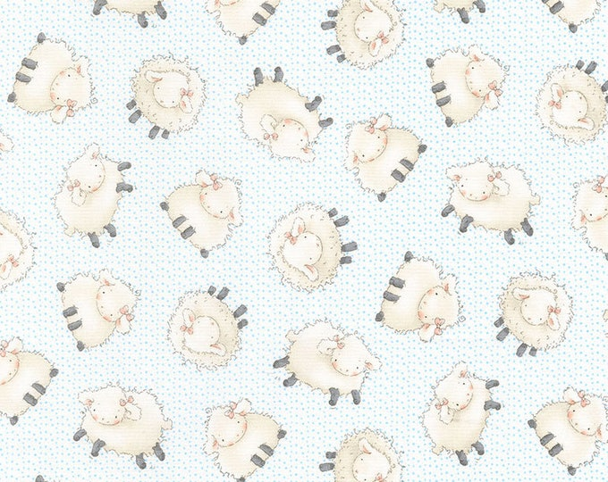 Sheep in Cloud- Cotton Tail Farm from Bunnies by the Bay- Timeless Treasures Fabric