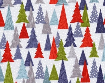 Hygge Christmas - Christmas Trees in Red by Lewis + Irene